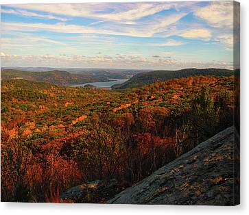 Canvas Print - Overlooking The Hudson River In Fall by Raymond Salani III