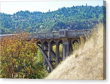 Overpass Underpinnings Canvas Print