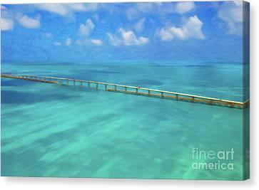 Overseas Highway Florida Keys Canvas Print by Patrick M Lynch