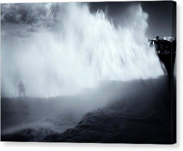 Overshadowed By Nature Canvas Print by Mike  Dawson