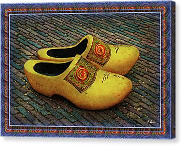 Canvas Print featuring the photograph Oversized Dutch Clogs by Hanny Heim