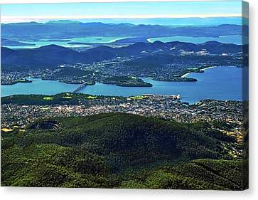 Overview Of Hobart Tasmania Canvas Print by Kirsten Giving