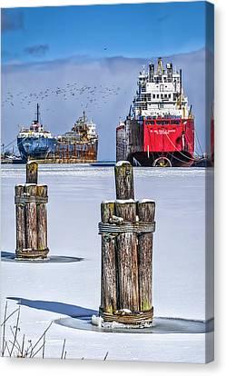 Owen Sound Winter Harbour Study #4 Canvas Print