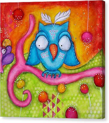 Canvas Print - Owl-ala  by Barbara Orenya