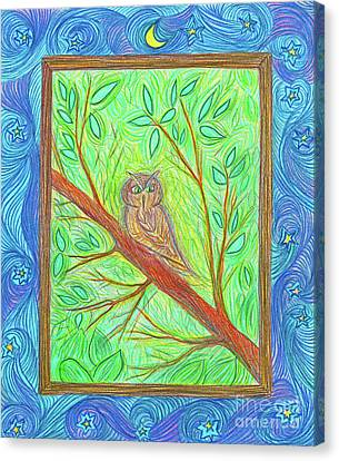 Owl At My Window By Jrr Canvas Print by First Star Art