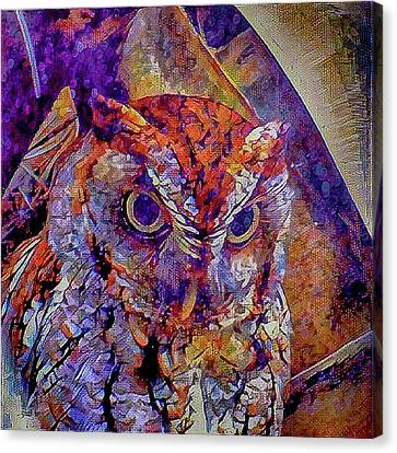 Canvas Print featuring the photograph Owl by David Mckinney