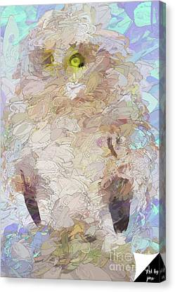 Canvas Print featuring the digital art OWL by Jim  Hatch