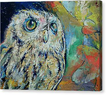 Owl Canvas Print by Michael Creese