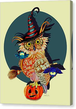 Owl Scary Canvas Print by Isabel Salvador