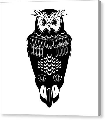 Owl Silhouette Canvas Print