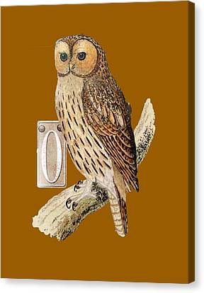 Canvas Print featuring the digital art Owl T Shirt Design by Bellesouth Studio