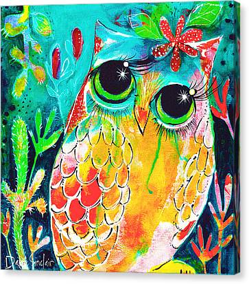 Owlette Canvas Print by DAKRI Sinclair