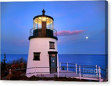 Penobscot Bay Canvas Print - Owls Head Light Evening by Olivier Le Queinec