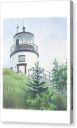 Maine Landscape Canvas Print - Owls Head Light by Todd Baxter