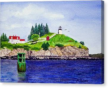 Owls Head Lighthouse Canvas Print by Mike Robles