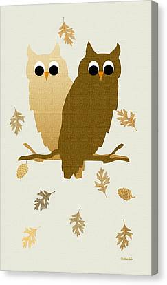 Owls Pattern Art Canvas Print