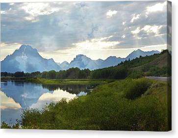 Oxbow Bend 13d Canvas Print by Marty Koch