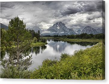 Oxbow Bend Canvas Print by Hugh Smith