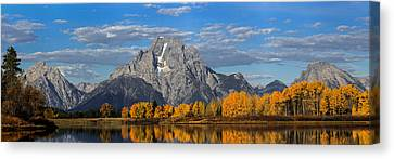 Oxbow Bend In Autumn Canvas Print by Andrew Wells