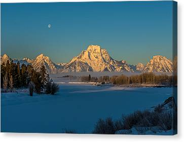 Oxbow Bend In Late Winter Canvas Print by Yeates Photography