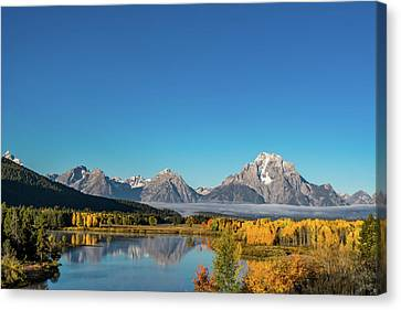 Oxbow Bend Canvas Print by Mary Hone