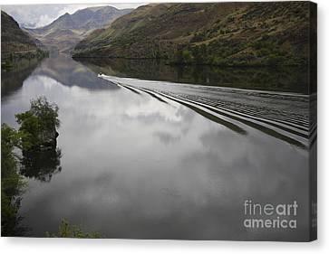 Oxbow Reservoir Wake Canvas Print by Idaho Scenic Images Linda Lantzy