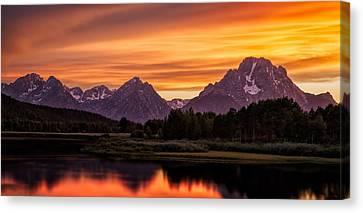 Oxbow Sunset Canvas Print