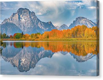 Oxbow's Autumn Canvas Print by Darren White