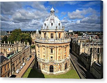 Oxford Library And Spires Canvas Print