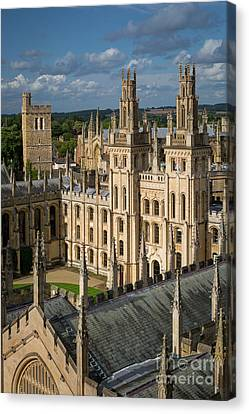 Canvas Print featuring the photograph Oxford Spires by Brian Jannsen