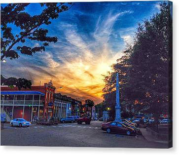 Oxford Square At Sunset Canvas Print by Matt Taylor