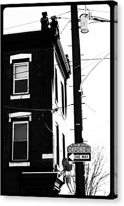 Canvas Print featuring the photograph Oxford St by Christopher Woods