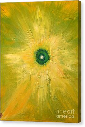 Canvas Print featuring the painting Oxygen by Ron Labryzz