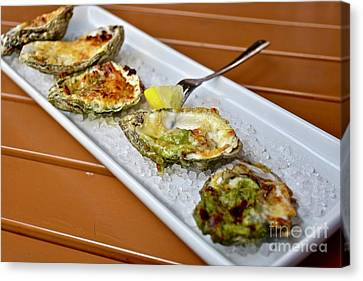 Oyster Appetizer Canvas Print by Jeramey Lende
