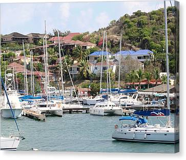 Canvas Print featuring the photograph Oyster Bay Marina by Margaret Bobb