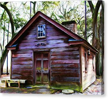 Oyster House On  Henry Ford Plantation Canvas Print by Fred Baird