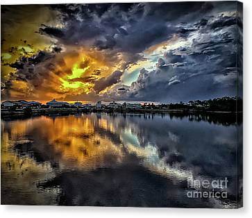 Oyster Lake Sunset Canvas Print