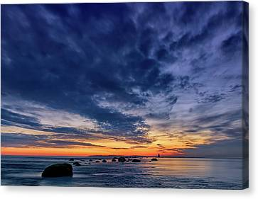 Oyster Pond Reef At Orient Point Canvas Print by Rick Berk