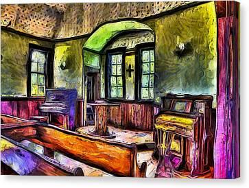 Oysterville Church Interior Canvas Print