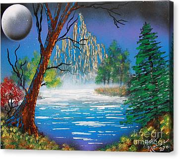 Canvas Print featuring the painting OZ by Greg Moores