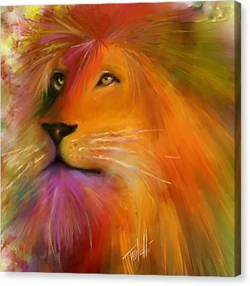 Animal Artist Canvas Print - Oz, Lion by Mark Tonelli