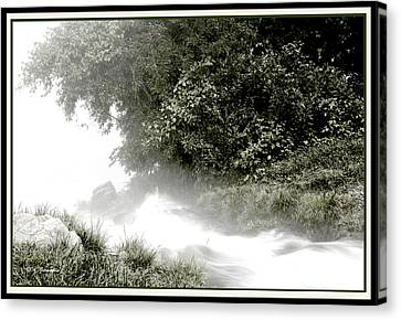 Ozark Mountains Rivulet Into The White River Canvas Print