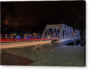 Ozarks Christmas Lights Canvas Print by Kevin Whitworth