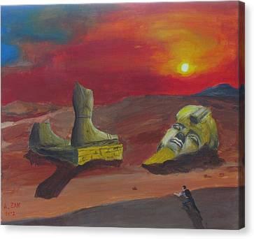 Ruins Canvas Print - Ozymandias by Alex Zak