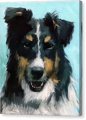 Ozzie Animal Dog Portrait Canvas Print