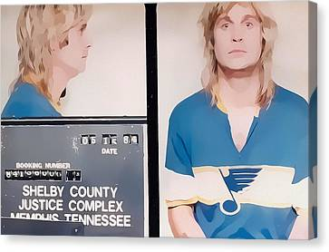 Ozzy Mugshot Canvas Print by Dan Sproul