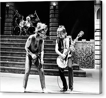 Ozzy Osbourne And Randy Rhoads 1981 Canvas Print by Chris Walter