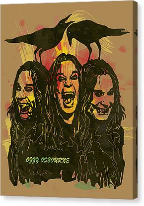 Ozzy Osbourne Pop Stylised Art Poster Canvas Print by Kim Wang