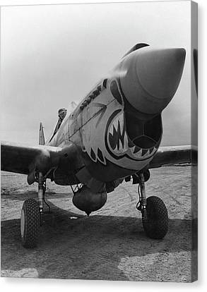 P-40 Warhawk - Flying Tiger Canvas Print by War Is Hell Store