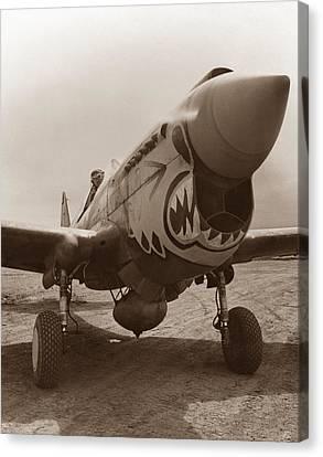 P-40 Warhawk - World War 2 Canvas Print by War Is Hell Store